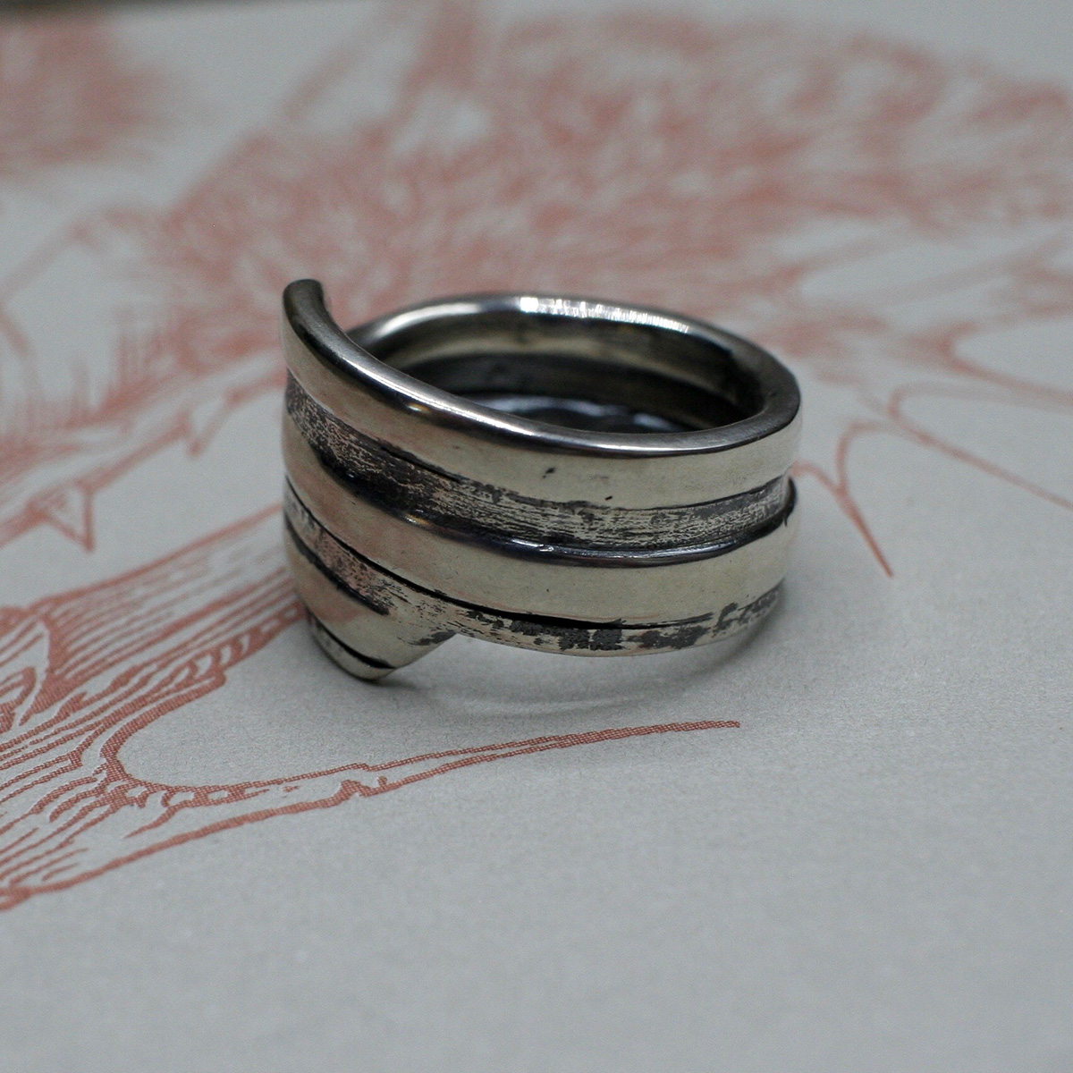 Handcrafted Basic Spiral Spring Ring