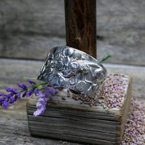 Bear Labyrinth Sterling Silver Cuff Bracelet