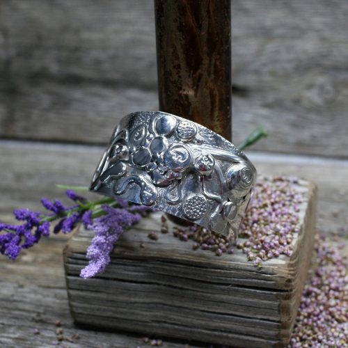 Bear Labyrinth Sterling Silver Cuff Bracelet