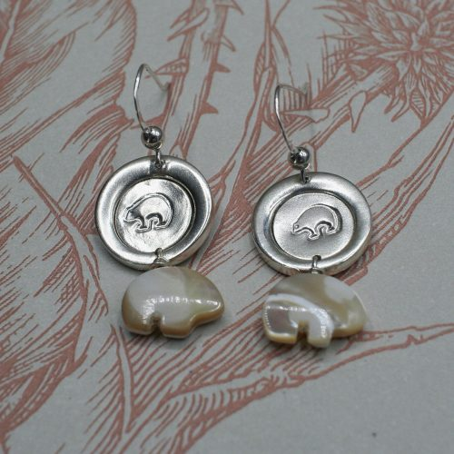 Handcrafted Zuni Bear Earrings
