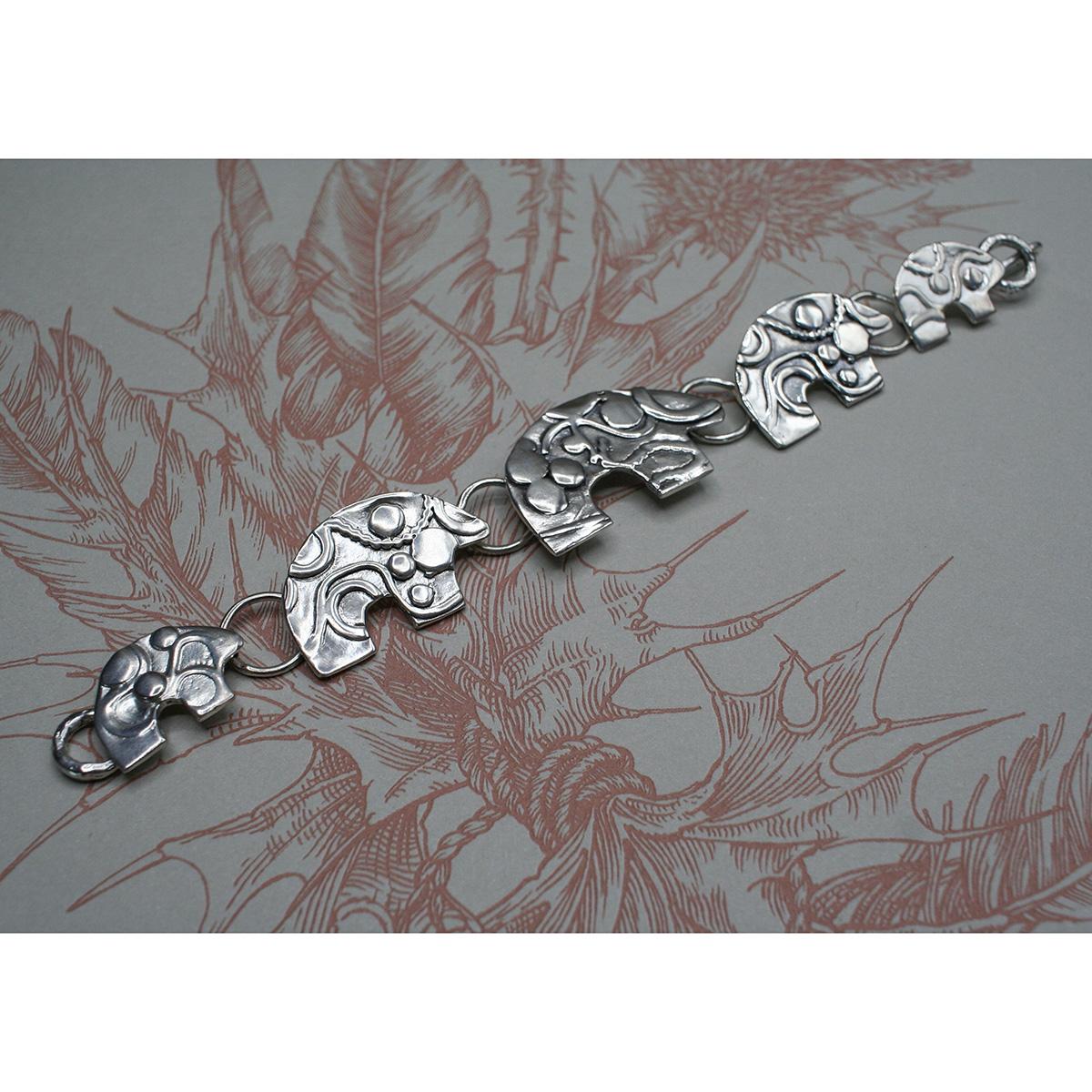 Sterling Silver Bear Bracelet