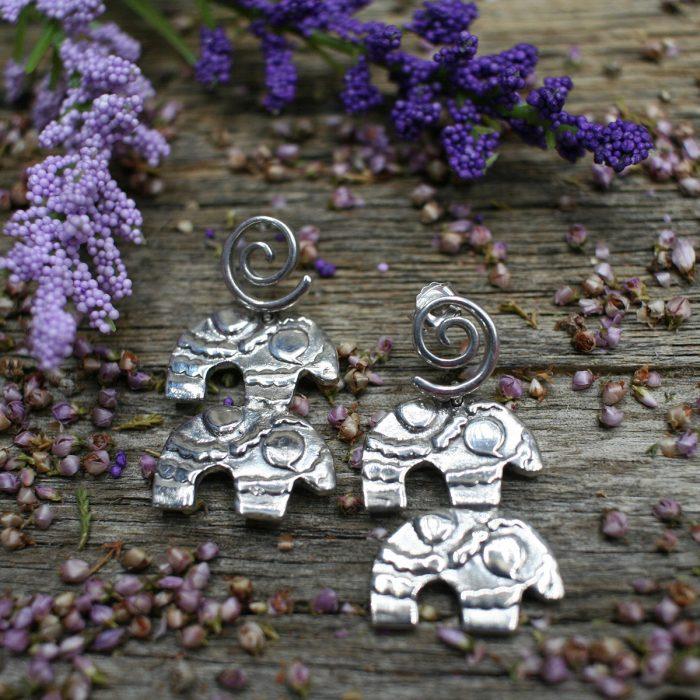 Sterling Silver Bear Earrings