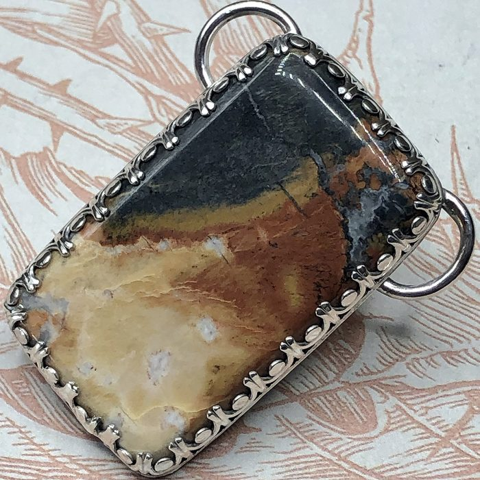 Maligano Picture Jasper Stone Pendant