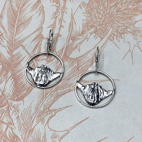 Baby Coo Sterling Silver Hamish the Highland Cow Earrings
