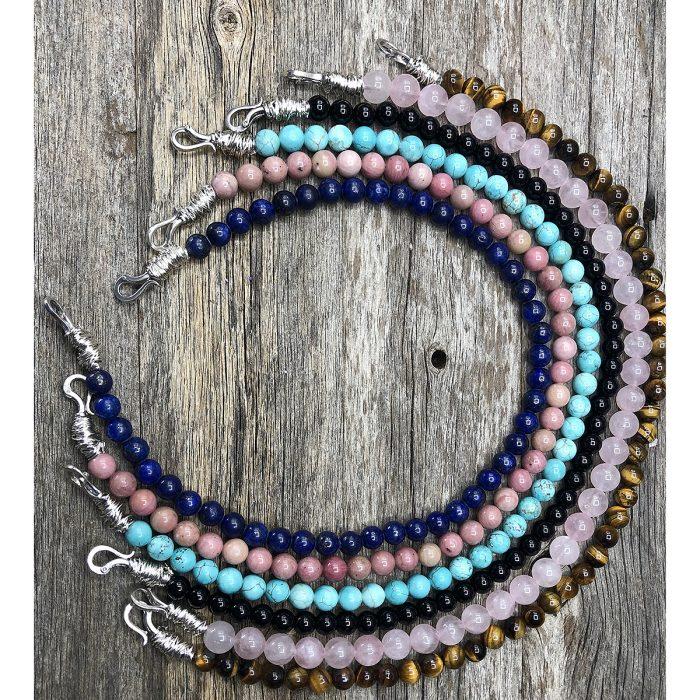 Interchangeable Gemstone Beads Necklace