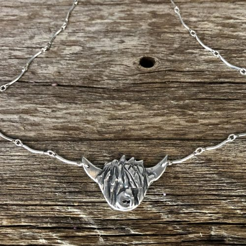 Highland Cow Silver Necklace