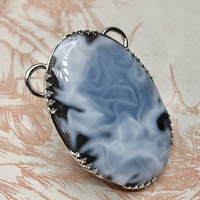 Interchangeable Peruvian Blue Opal Pendant