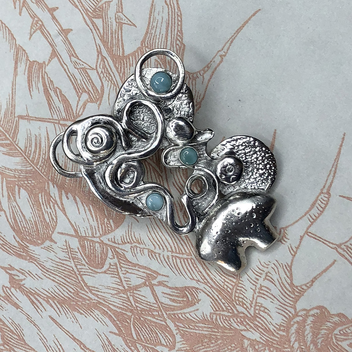 Interchangeable Solid Silver Zuni Bear Pendant