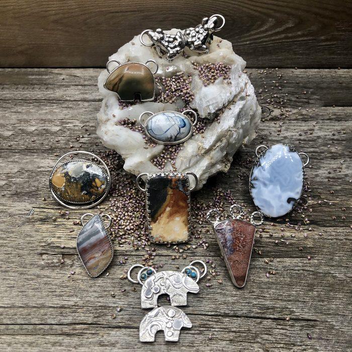 Interchangeable Natural Stone Pendants