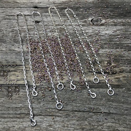 Interchangeable Sterling Silver Chain Necklaces options