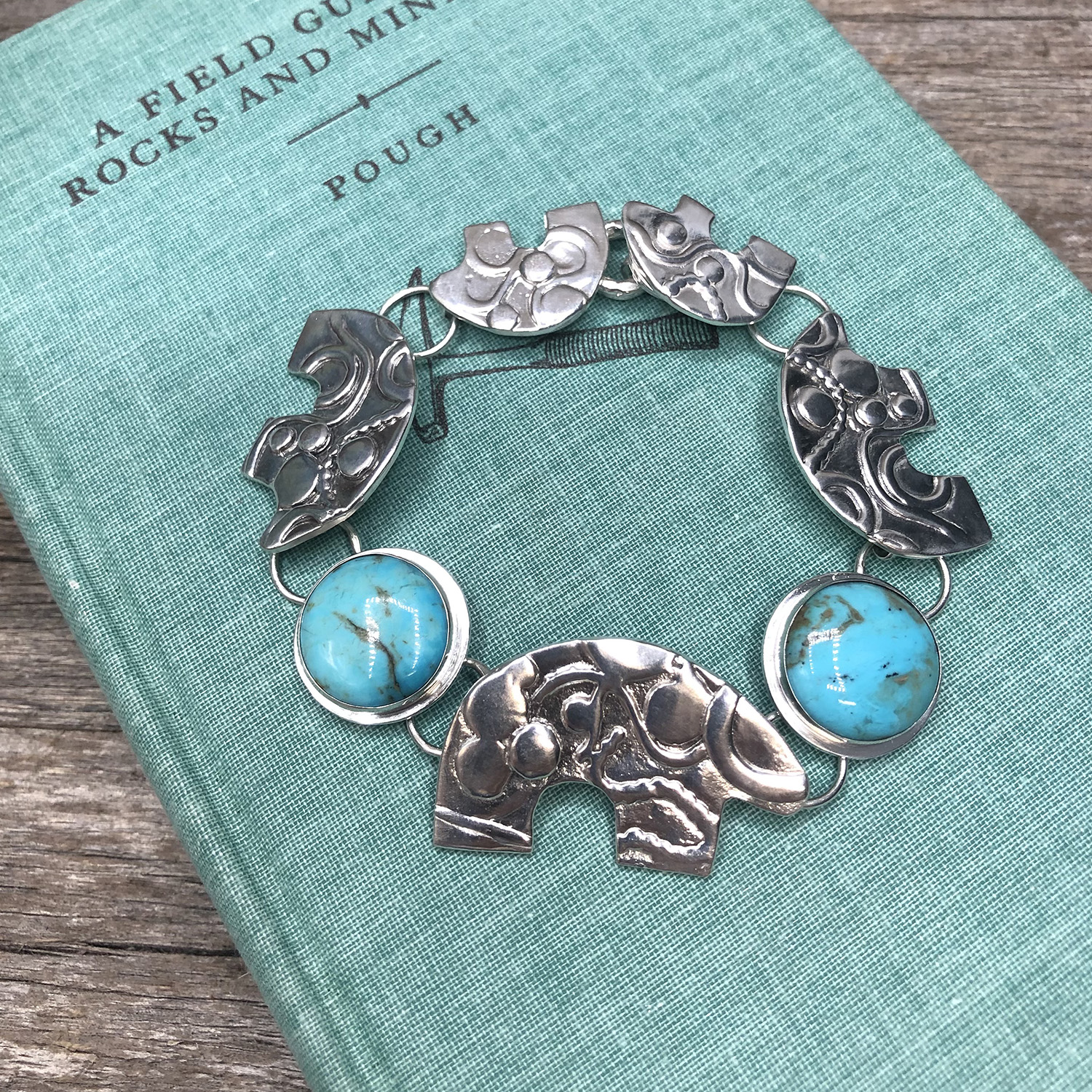 Five Bear Whimsy Bracelet with Kingman Turquoise