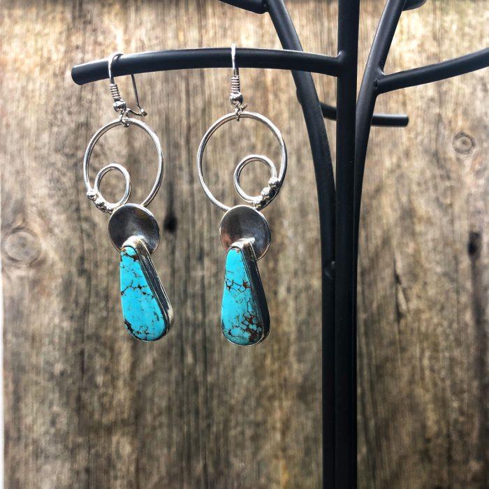 Teardrop Kingman Turquoise Earrings
