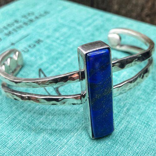 Handmade Lapis Lazuli Cuff